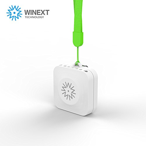 Winext Portable Air purifier, Personal Mini Ionic Air Purifier, Necklace Ionizer ,USB Rechargeable. Removes Cigarette Smoke, Bacteria, Unbearable Odor (white)