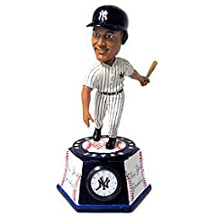 New York Yankees Derek Jeter Forever Collectibles Bobble Head Clock