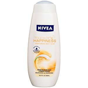 Nivea Touch Of Happiness Moisturizing Body Wash, Orange Blossom, 16.9-Ounce Bottles (Pack of 3)