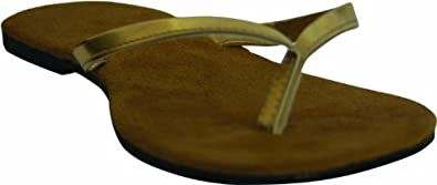 Bendables folding Flip-Flops with Pouch Gold Size 7/8
