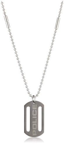 Police PJ24149PSB-01 Unisex Necklace with Charm 'Zero'