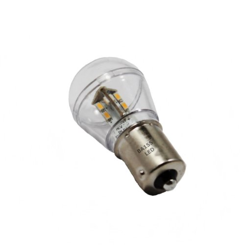 Ba15S Bayonet Base Single Contact 16 Smd 3528 Led Light Bulb 12V S8 93B2 1156 1141 Warm White Color