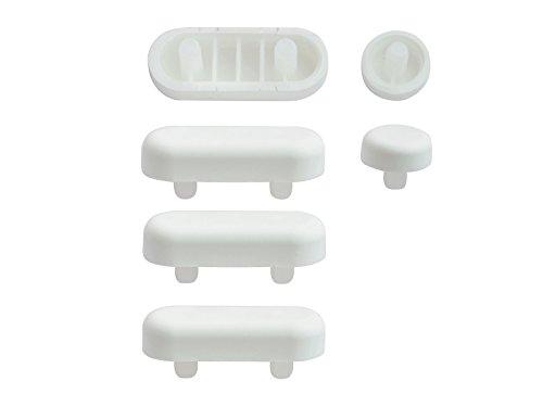 WC-Sitz-Puffer Nr. 1 | Auflagestopfen für Toilettensitz | Abstandhalter für WC-Brille | Dämpfer | Weiß | Kunststoff