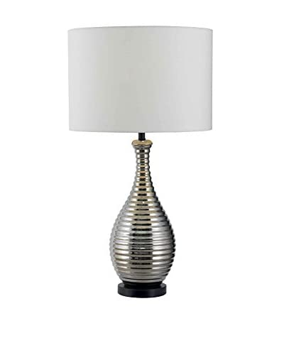 Design Craft Glenbrook Table Lamp, Chrome Ceramic Finish