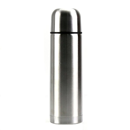 Best Stainless Steel Thermos Bottle - BPA Free - Hot Coffee or Cold Tea + Drink Cup Top - Double Wall Insulated - Slim Line Travel Size - Fits A Car Caddy - NEW Easy Clean Screw Top Lid - 17 OZ (Liquid Caddy Beverage Holder compare prices)