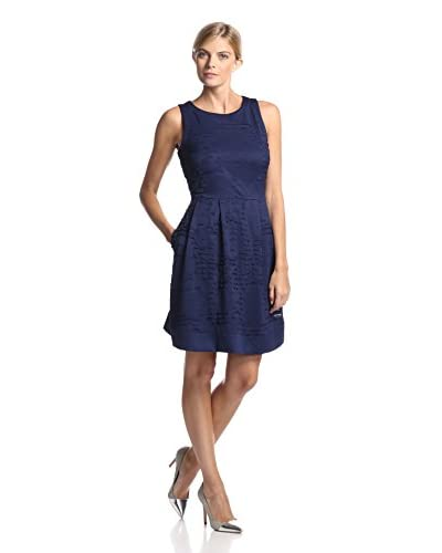 Marc New York by Andrew Marc Women's Sleeveless Grunge Mesh Fit-and-Flare Dress