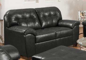Shi Loveseat, Onyx Bonded Leather Match by Acme Furniture