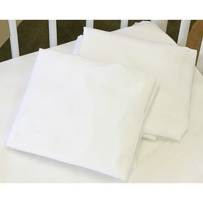 La Baby Fitted Sheet For Full Size Crib, White front-899986