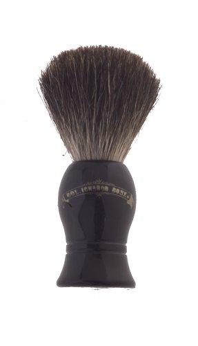 Colonel Conk Progress Model 1001 Standard Pure Badger Shaving Brush, Black Handle