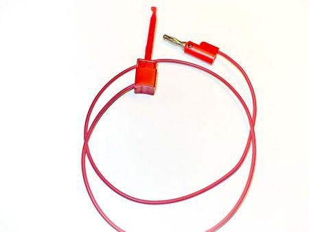 Red Mini-Plunger To Stackable Banana Plug With Double Sided Foam Tape