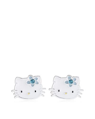 Hello Kitty Sterling Silver December Birthstone Earrings As You See