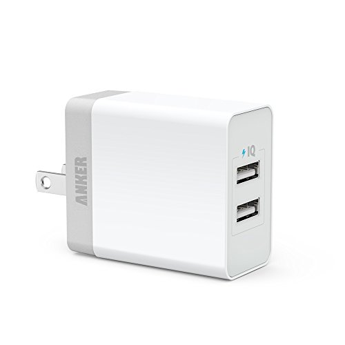 Anker® 20W 2ポート USB急速充電器 iPhone6/iPhone5C/5S/5/4S/4/iPod/iPad/Xperia/GALAXY/ウォークマン等対応【PowerIQ搭載】