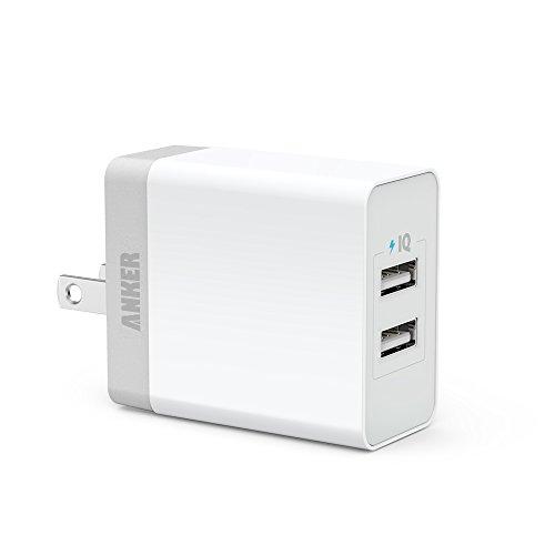 Anker® 20W 2ポート USB急速充電器 iPhone6/iPhone5C/5S/5/4S/4/iPod/iPad/Xperia/GALAXY/ウォークマン等対応【PowerIQ搭載】 (ホワイト) 71AN7109-W2A
