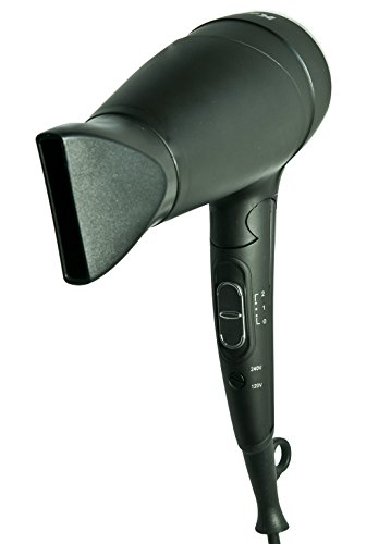 Kadori Professional Travel Blow Salon Hair Dryer Plug N Go, Ceramic, Ionic, with Folding Handle and Dual Voltage 110v/240v (Hair Dryer 110v compare prices)