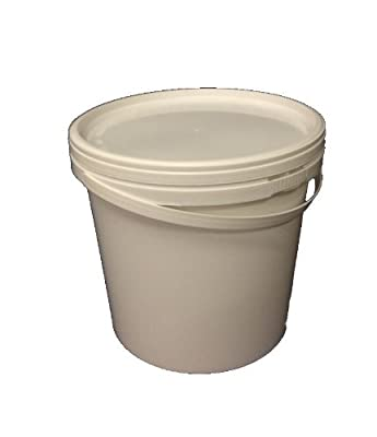 5 x 5L, Ltr, Litre Plastic Buckets with Lids - Free Postage