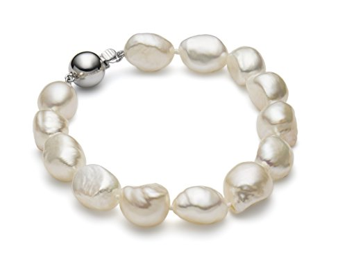 AAA Handpicked 10-11mm Ultra-Iridescent Baroque Freshwater Cultured Pearl Bracelet