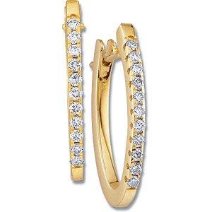 Genuine IceCarats Designer Jewelry Gift 14K Yellow Gold Diamond Earring. Diamond Earrings In 14K Yellow Gold