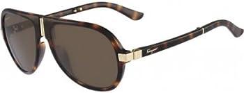 Salvatore Ferragamo Polarized Mens Foldable Sunglasses