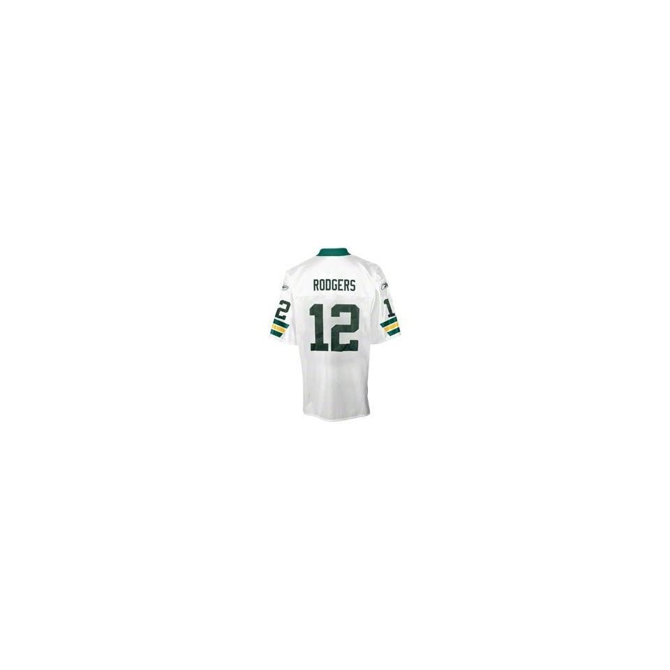 Aaron Rodgers Green Bay Packer Reebok White Away Jersey Youth Boys Size S 8  Team Apparel 4624f10d0