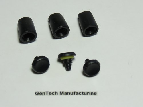 Set Of 3 Replacement Headphone Screws With Keepers For Lifeproof Iphone Cases From Gentech (Black 4/4S)