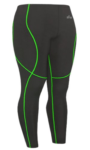 Emfraa Skin Tights Compression Pants Mens Womens Leggings Running Base Layer Black S ~ 2XL