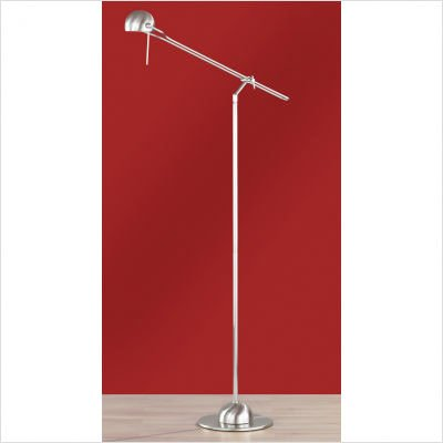 Wofi Lighting York Nickel-Matt Floor Light with Adjustable Head and Arm