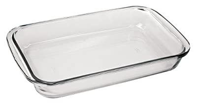"Marinex Bakeware Medium Rectangular Glass Roaster, 13-5/8"" x 8-1/8"" x 2"""