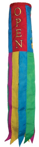 In the Breeze Open Flowers Windsock, 40-Inch