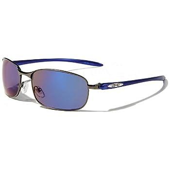 X-Loop Lunettes de Soleil - Mode - Cyclisme - Sport - Conduite - Motard / Mod. 1370 Aviator Bleu / Taille Unique Adulte / Protection 100% UV400