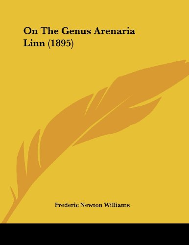 on-the-genus-arenaria-linn-1895
