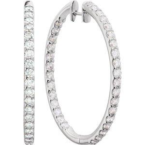 Genuine IceCarats Designer Jewelry Gift 14K Yellow Gold Diamond Earring. Pair 1 Ct Tw Diamond Earrings In 14K Yellow Gold