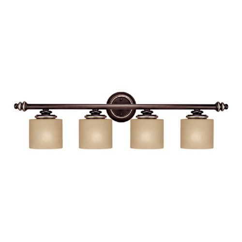 Capital lighting 1134cz 296 vanity with champagne glass - Champagne bronze bathroom vanity light ...
