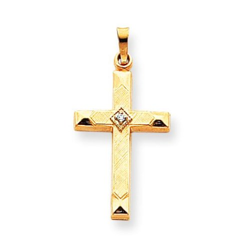 Cross with Diamond Pendant 14k