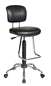 Chrome Finish Economical Chair with Chrome Teardrop Footrest, Casters and Glides