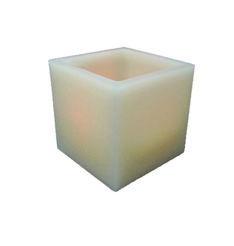 Mr. Light Extra Large 6.5In Square Pillar Real Wax Led Candle With Flickering Led