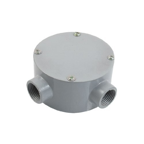 """Dimart G1/2"""" Right Angle Two Hole Connecting Metal Round Water-Proof Junction Box"""