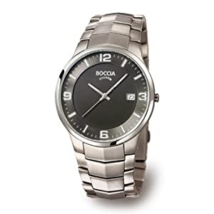 Boccia Men's Quartz Watch 3561-02 3561-02 with Metal Strap