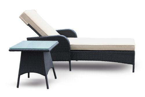 Chaise lounge and side table set by luxus outdoor all - Ensemble chaise table ...