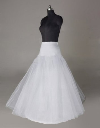 Sunvary Nylon A-line Full Gown 2 Tier Long Slip Wedding Petticoats