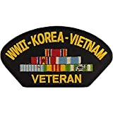 US Military Korea & WWII Iron On Patch - WWII, Korea, & Vietnam Veteran