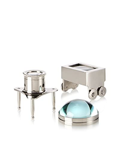 Go Home Set of 3 Jewelers Magnifiers, Bronze