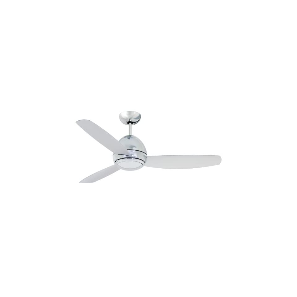 Emerson CF244CRM Curva Indoor/Outdoor Ceiling Fan, 44 Inch Blade Span, Chrome Finish