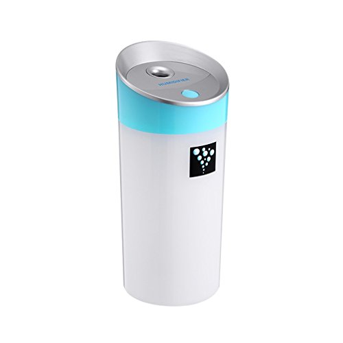 Cool Mist Humidifier OUTAD Portable Travel USB Mini Humidifier Ultrasonic Humidifier for Car Home Office Baby with Automatic Shut-off, Night Light Function(Blue) (Humidifiers Characters compare prices)