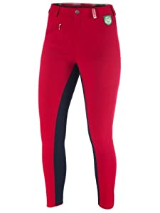 RTS 1003-184-68 - Riding Breeches Womens, Colour: Red - red / blue