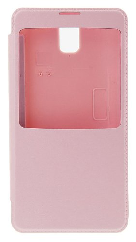 Generic Flip Cover With Screen Window For Samsung Galaxy Note 3 Pink