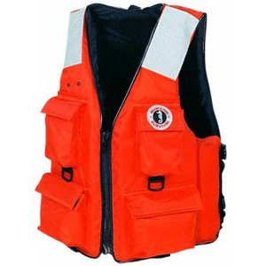 Mustang Classic Industrial PFD with 4 Pockets, Orange, X-Large