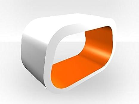 Außen Weiß SQUOVAL TV Ständer Orange glänzend