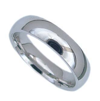 Stainless Steel Wedding Band - 6 mm - Size: 6-12, 12