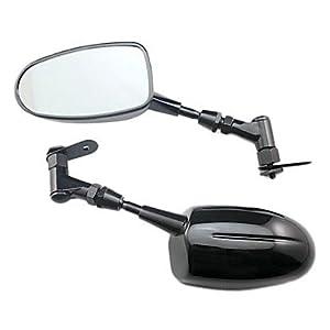 Tmall - Rearview Mirrors For All HONDA KAWASAKI YAMAHA (Carbon Black Silve) by T-mall