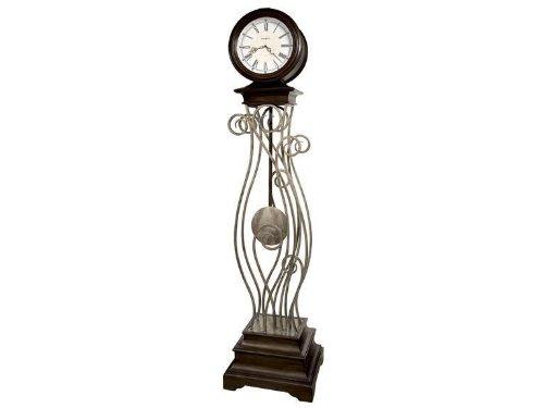 615064 Howard Miller Contemporary Quartz floor Clock Tennille Nickel
